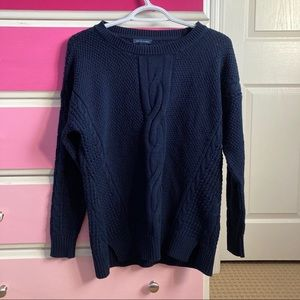 Tommy Hilfiger Navy cable knit sweater